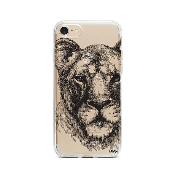 Lioness - iPhone 7 Case Clear