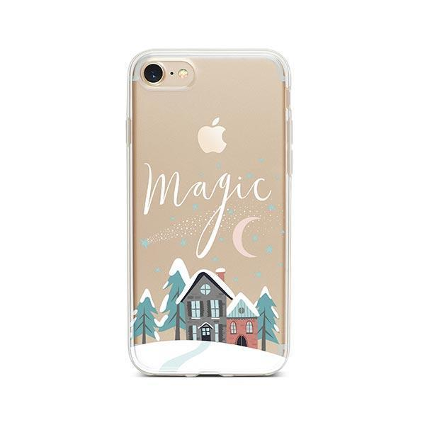 christmas magic iphone 7 case clear