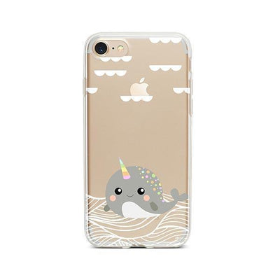 Narwhal - Clear TPU - iPhone Case