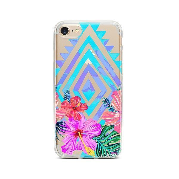 Navajo Hibiscus iPhone 8 Case Clear