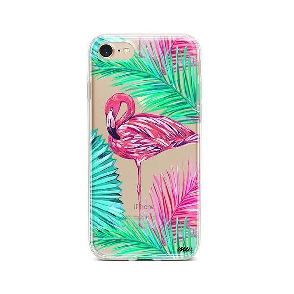 Neon Flamingo - iPhone 7 Case Clear