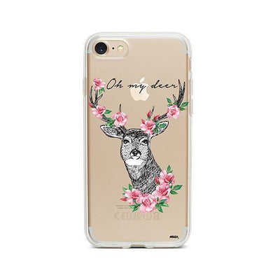 Oh My Deer - Clear TPU - iPhone Case