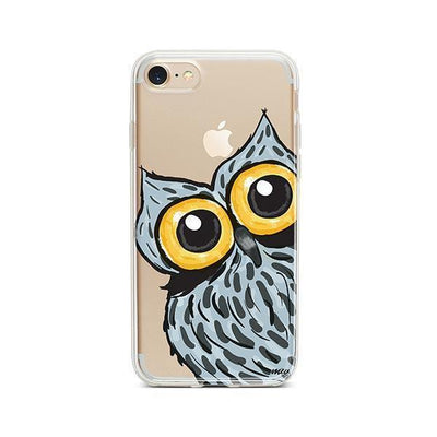 Peeking Owl - iPhone Clear Case