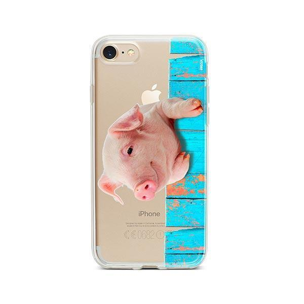Pig on a Fence - iPhone 7 Case Clear