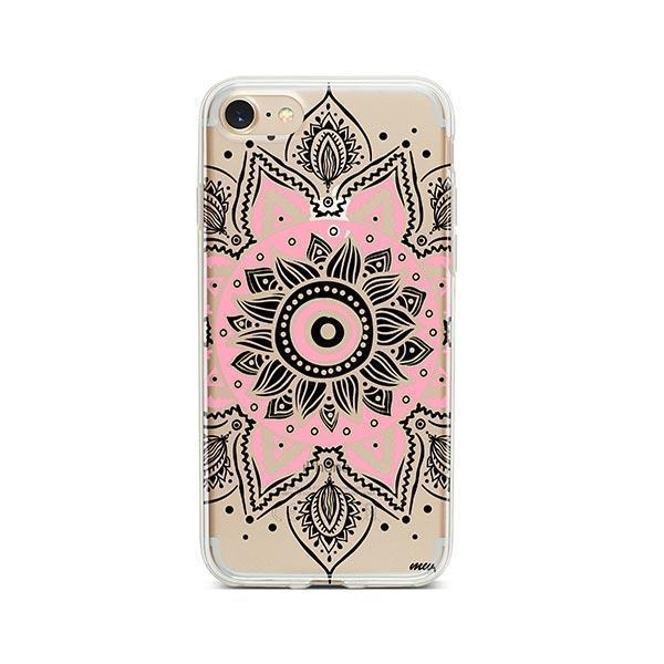 Pink Mandala iPhone 7 Case Clear