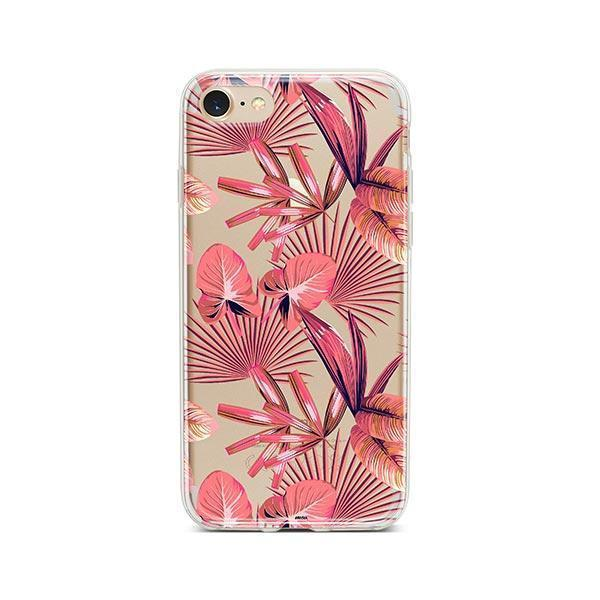 Pink Palm Leaves iPhone 7 Case Clear