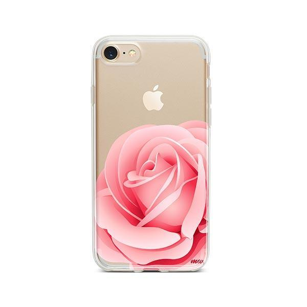 Pink Rose iPhone 8 Case Clear