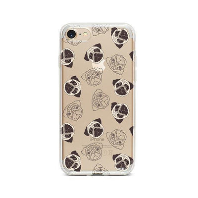 Pug Overload - iPhone Clear Case