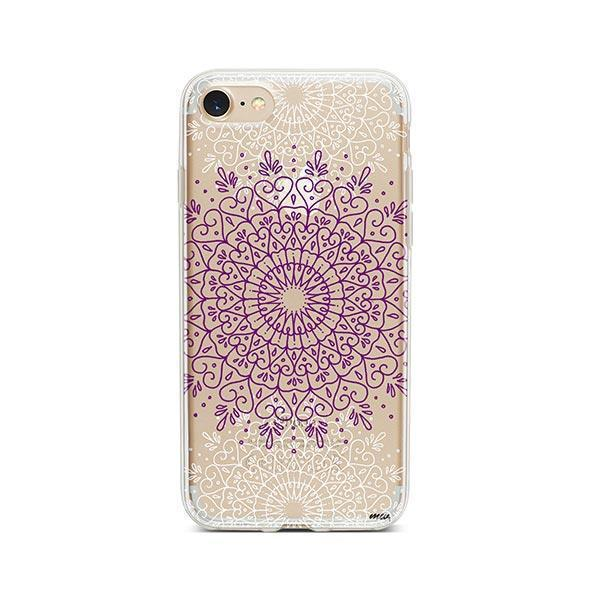 Purple Mandala iPhone 7 Case Clear