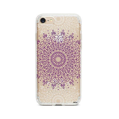 Purple Mandala - iPhone Clear Case