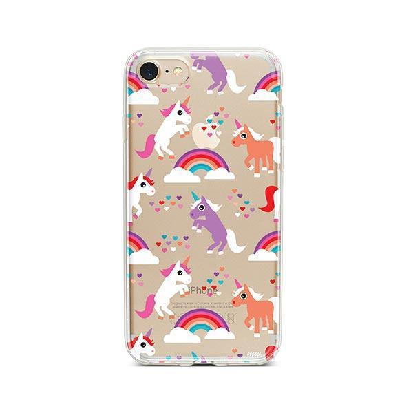 Rainbows and Unicorns iPhone 7 Case Clear