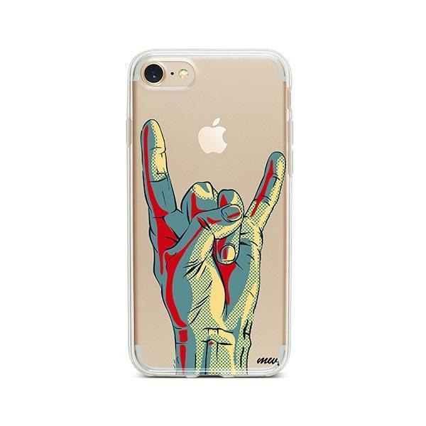 Rock On iPhone 7 Case Clear