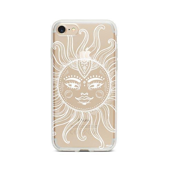 Henna Totemic Sun iPhone 7 Case Clear