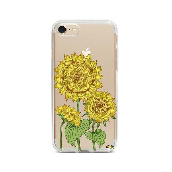 Sunny Sunflower iPhone 8 Case Clear