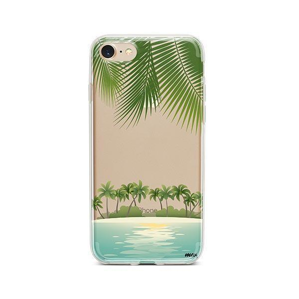 Tropical Beach iPhone 8 Case Clear