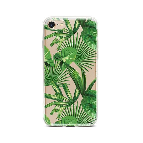 Tropical Palm Leaves iPhone 7 Case Clear