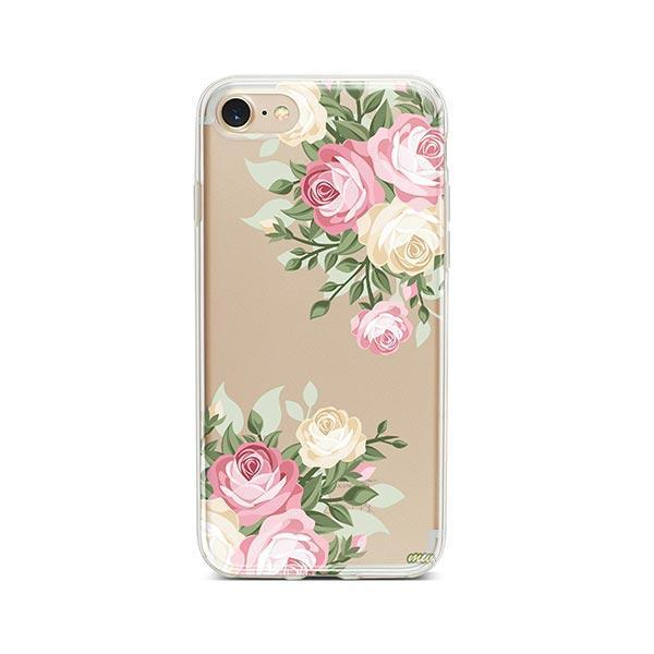 Vintage Roses iPhone 8 Case Clear