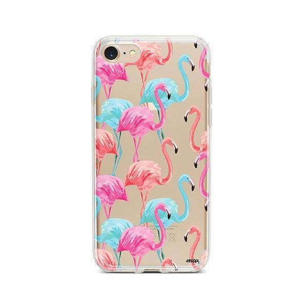 Watercolor Flamingo - iPhone 7 Case Clear