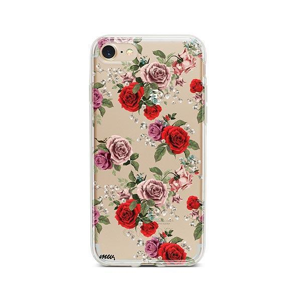 Watercolor Floral Pattern iPhone 8 Case Clear
