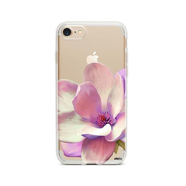 Watercolor Magnolia iPhone 8 Case Clear