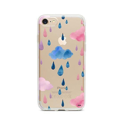 Watercolor Rain - iPhone Clear Case
