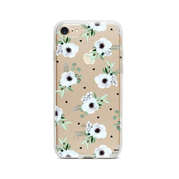 White Blossom iPhone 8 Case Clear
