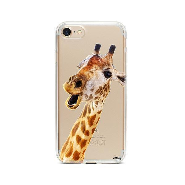 Whoa Giraffe - iPhone 7 Case Clear