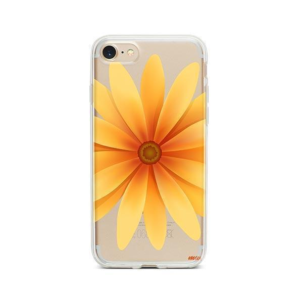 Yellow Daisy iPhone 8 Case Clear