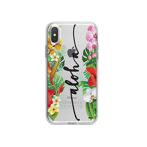 Aloha iPhone X Case Clear