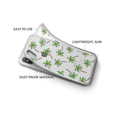 Aloha Trees iPhone X Case Clear