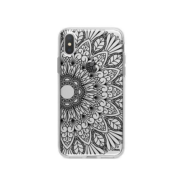 Black Henna Full Mandala iPhone X Case Clear