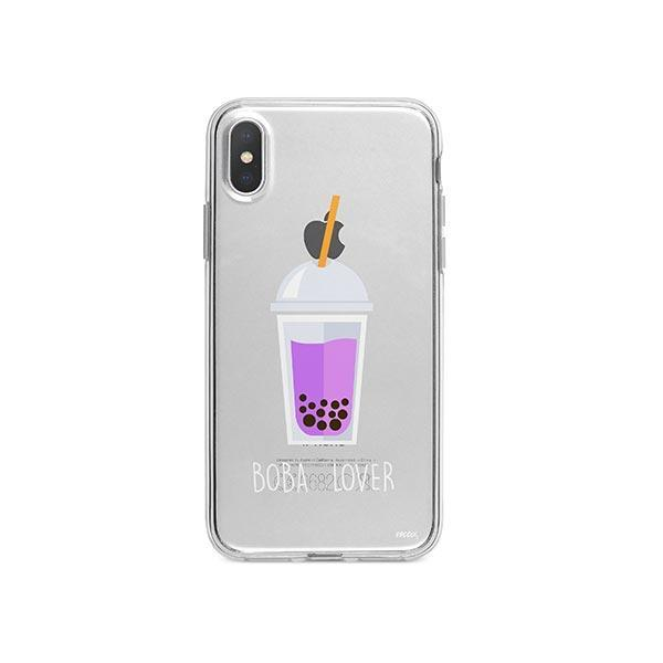 Boba Lover iPhone X Case Clear