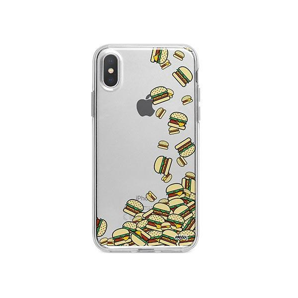 Burger Stuck iPhone X Case Clear