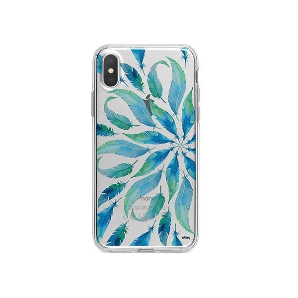 Burst of Feathers iPhone X Case Clear