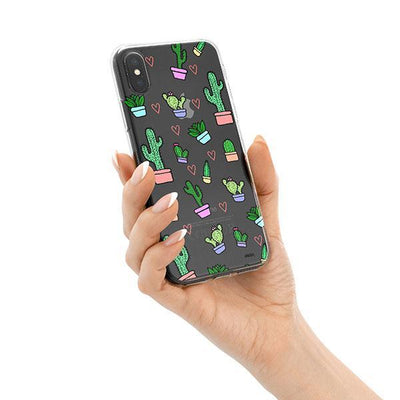 Cactus Love iPhone X Case Clear
