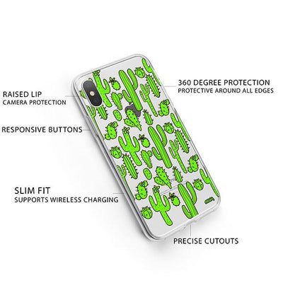 Cactus Overload iPhone X Case Clear