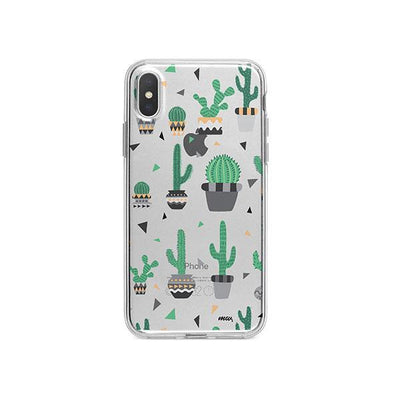 Cactus Party iPhone X Case Clear