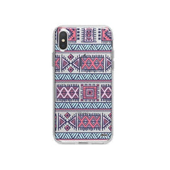 Colored Aztec iPhone X Case Clear