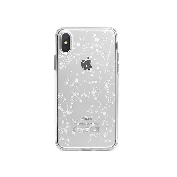 Constellation iPhone X Case Clear
