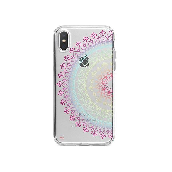 Cotton Candy Mandala iPhone X Case Clear