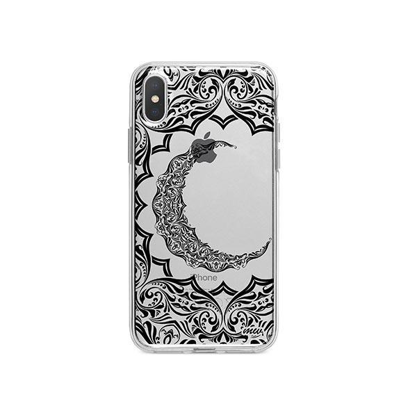Crescent Moon Henna iPhone X Case Clear