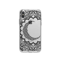 Henna Crescent Sun and Moon iPhone X Case Clear