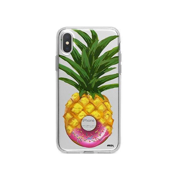 Donut Pineapple iPhone X Case Clear