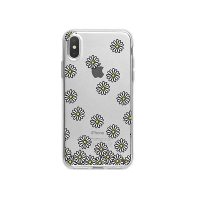 Falling Daisies iPhone X Case Clear