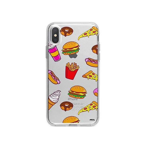 Fast Food iPhone X Case Clear