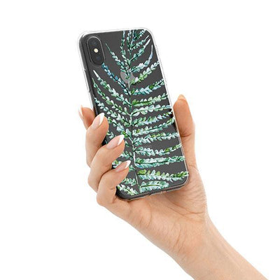 Fern iPhone X Case Clear