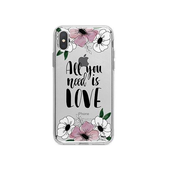 All You Need is Love iPhone X Case Clear