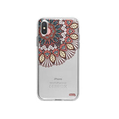 Henna Floral Mandala iPhone X Case Clear