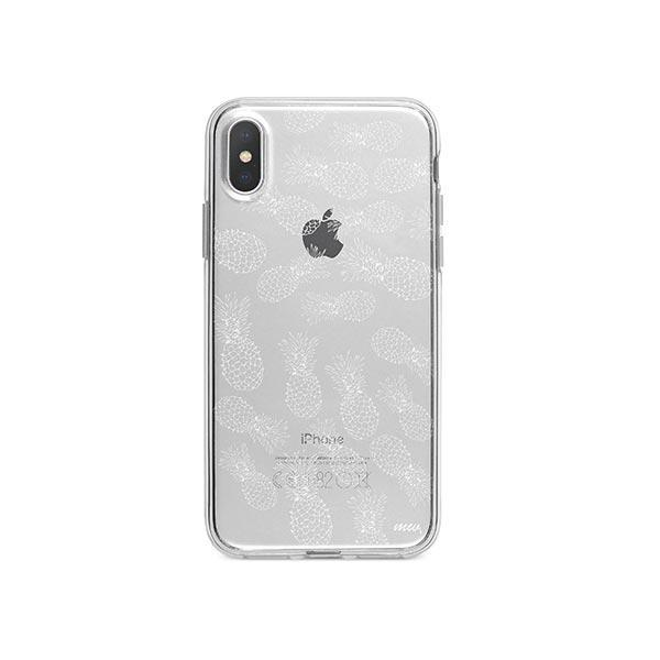 Henna White Pineapple iPhone X Case Clear