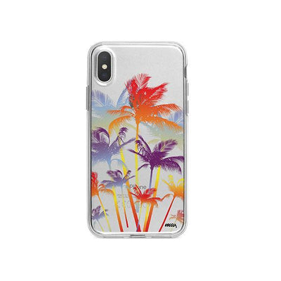 Hipster Palm Tree iPhone X Case Clear